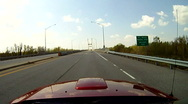 Stock Video Footage of Timelapse of car POV driving over a bridge