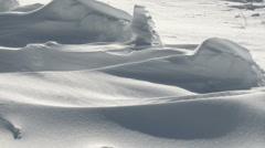 Drifting snow Stock Footage