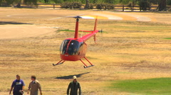 Robinson R44 Copter Take-Off 2 Stock Footage