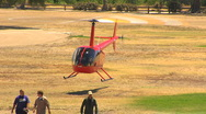 Stock Video Footage of Robinson R44 Copter Take-Off 2