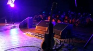 Guitar on stage Stock Footage
