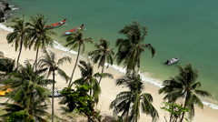 Tropical Paradise, Aerial View Of Mu Ko Ang Thong, Exotic Island, Thailand Stock Footage