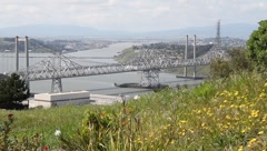 Carquinez Bridge Wide 7126 Stock Footage