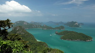 Stock Video Footage of Tropical Paradise, Aerial View Of Mu Ko Ang Thong, Exotic Island, Thailand