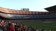 Inside FC Barcelona stadium before game 3 Stock Footage