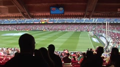 Inside FC Barcelona stadium before game 8 - stock footage