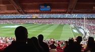 Inside FC Barcelona stadium before game 8 Stock Footage