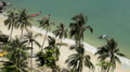 Tropical Sunny Day, Sandy Beach, Paradise, Aerial View, Exotic Island, Holiday Footage