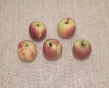 Five apple Stock Footage