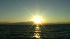 Sunset lake mountain Stock Footage