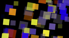 Square fragment mosaic paper debris background,abstract rectangular particle. Stock Footage