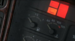 dashboard indicator gas tank empty - stock footage