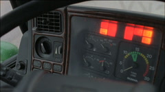 truck dashboard - stock footage