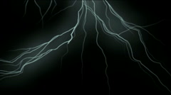 Lightning thunder,flash power storm energy lines,magnetic science background. Stock Footage