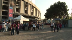 Outside FC Barcelona before game 3 Stock Footage