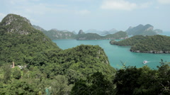 Tropical Paradise, Aerial View Of Mu Ko Ang Thong, Exotic Island, Thailand Stock Footage