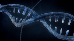 DNA Strand - Blue Version 3 - stock footage