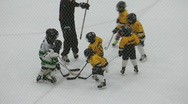 Young Children Playing Minor Ice Hockey Stock Footage