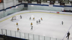 Minor Ice Hockey Game At An Arena - stock footage