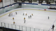 Minor Ice Hockey Game At An Arena Stock Footage