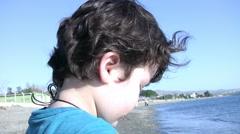 Child with binoculars Stock Footage