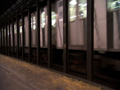 train with pan - stock footage