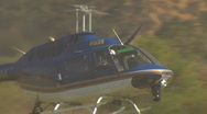 Pasadena Police Copter Flying Low Stock Footage