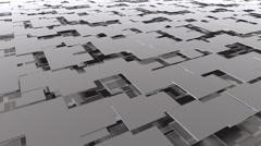 Grey panels backdrop loop Stock Footage