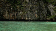Stock Video Footage of Tropical Paradise, Long Tail Boats in Maya Bay (The Beach Film) Amazing Thailand