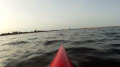 Kayaking in lagoon Stock Footage