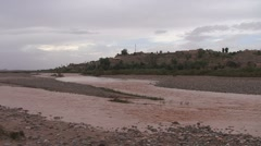 River, Ouarzazate, Draa Valley Stock Footage