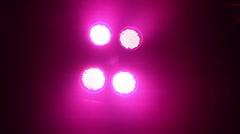 LED Par Lights Stock Footage