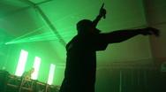 MC on stage Stock Footage