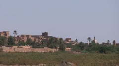View over Ouarzazate, Draa Valley Stock Footage