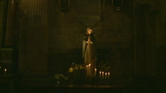 Virgin Mary Glidecam shot (In and Out) Stock Footage