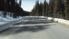 Winter road time lapse - stock footage