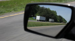 I-81 Virgina rear view to hwy Stock Footage