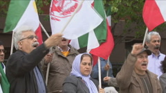 Iranian opposition protesters Stock Footage