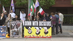 Iranian opposition protesters - stock footage