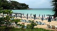 Beautiful Kata Beach in Phuket Island,  Tropical Paradise, Amazing Thailand Stock Footage
