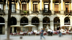 Plaza real barcelona spain Stock Footage