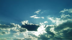 """Up cloud sun rays  """" Think Different """" Stock Footage"""