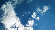 Stock Video Footage of up cloud summer blue sky