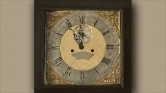 Old clock Stock Footage