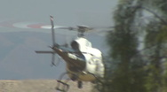 LAPD Helicopter Take-off  Stock Footage