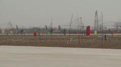 J-10 Chinese Fighter aircraft group take off : 3 of them Stock Footage
