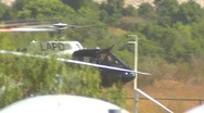 LAPD Helicopter ground hover Stock Footage