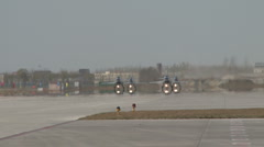 J-10 Chinese Fighter aircraft just landded rolling on taxiway Stock Footage
