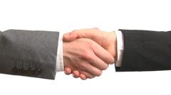Handshake - stock footage