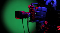 Broadcast HD Video Camera Stock Footage
